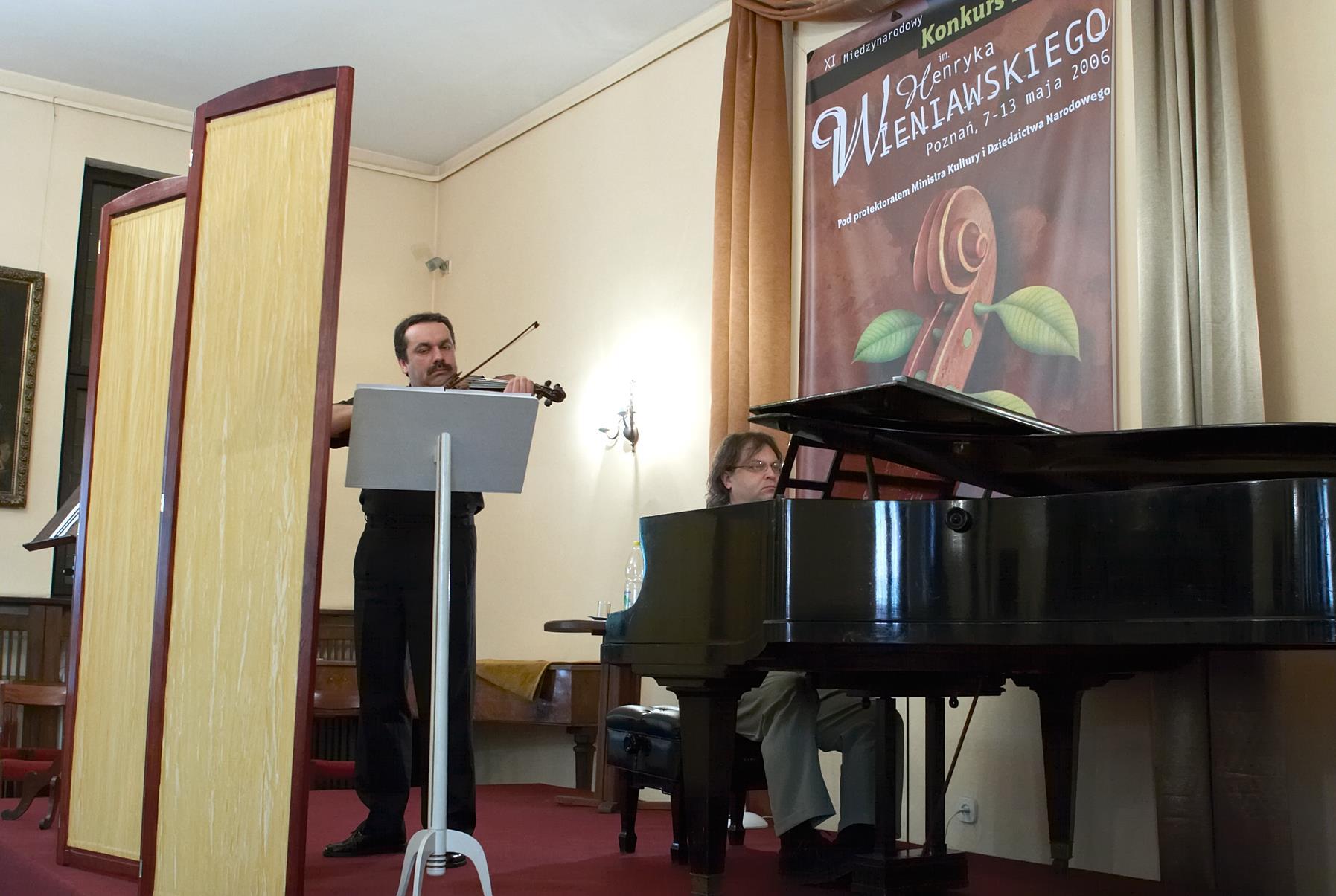 Acoustic evaluation of violins in chamber hall. Bartosz Bryła – violin, Arnold Dąbrowski – piano.