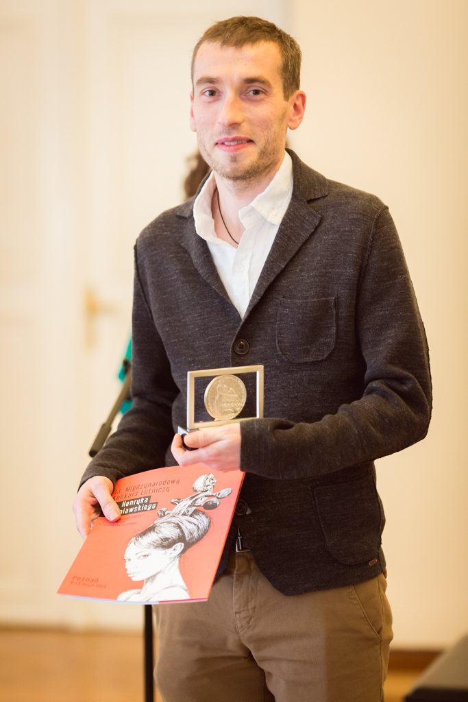 Krzysztof Krupa (Poland) - 2nd Prize Winner of 13th International Henryk Wieniawski Violin Making Competition (2016)