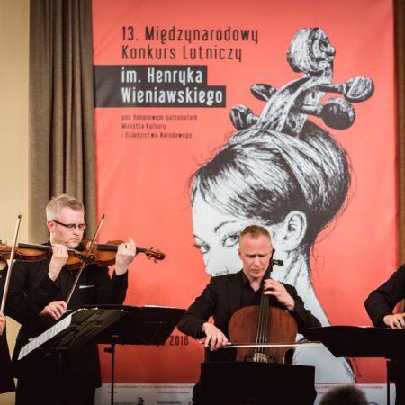 Meccore String Quartet zainaugurował 13. Międzynarodowy Konkurs Lutniczy im. Henryka Wieniawskiego (08.05.2016)
