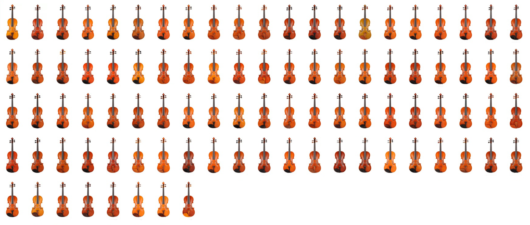 Virtual 3D gallery of violins taking part in 13th International Henryk Wieniawski Violin Making Competition (8-15.05.2016)