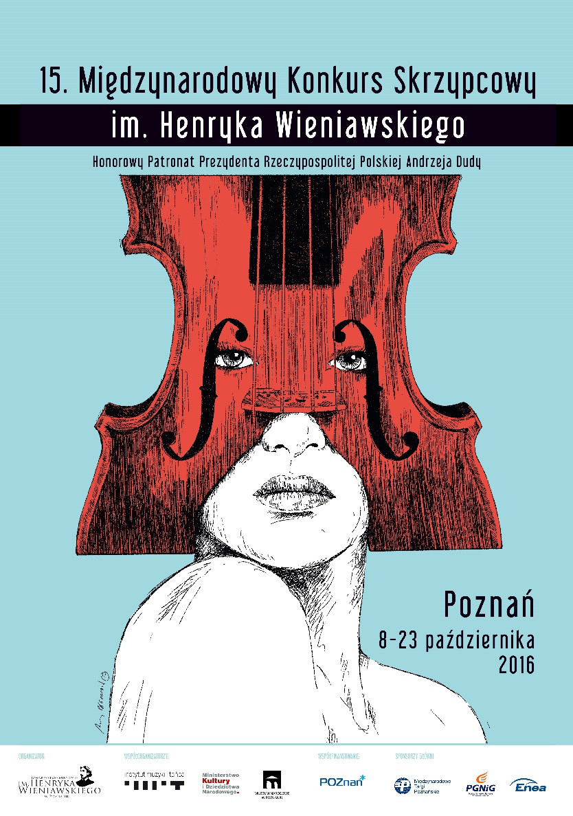 Lista Jurorów 15. Międzynarodowego Konkursu Skrzypcowego im. Henryka Wieniawskiego (Poznań, 8-23.10.2016)
