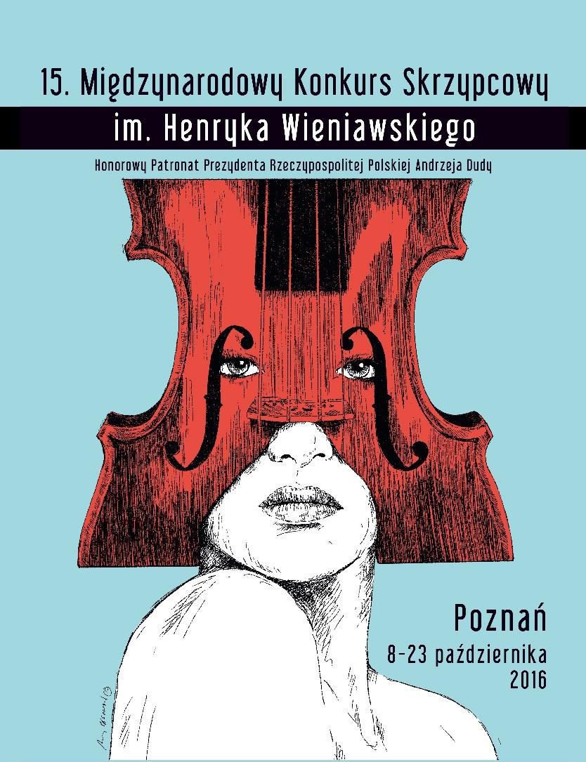 Uczestnicy 15. Międzynarodowego Konkursu Skrzypcowego im. Henryka Wieniawskiego (Poznań, 8-23.10.2016)