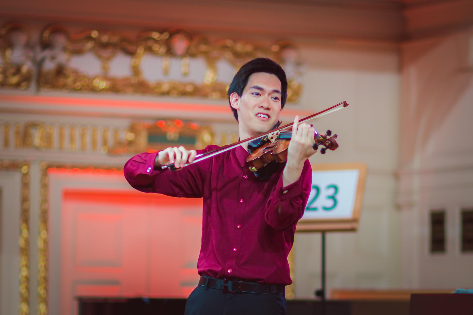 Richard Lin (Tajwan/USA) - Etap 1 - 15. Międzynarodowy Konkurs Skrzypcowy im. H. Wieniawskiego STEREO