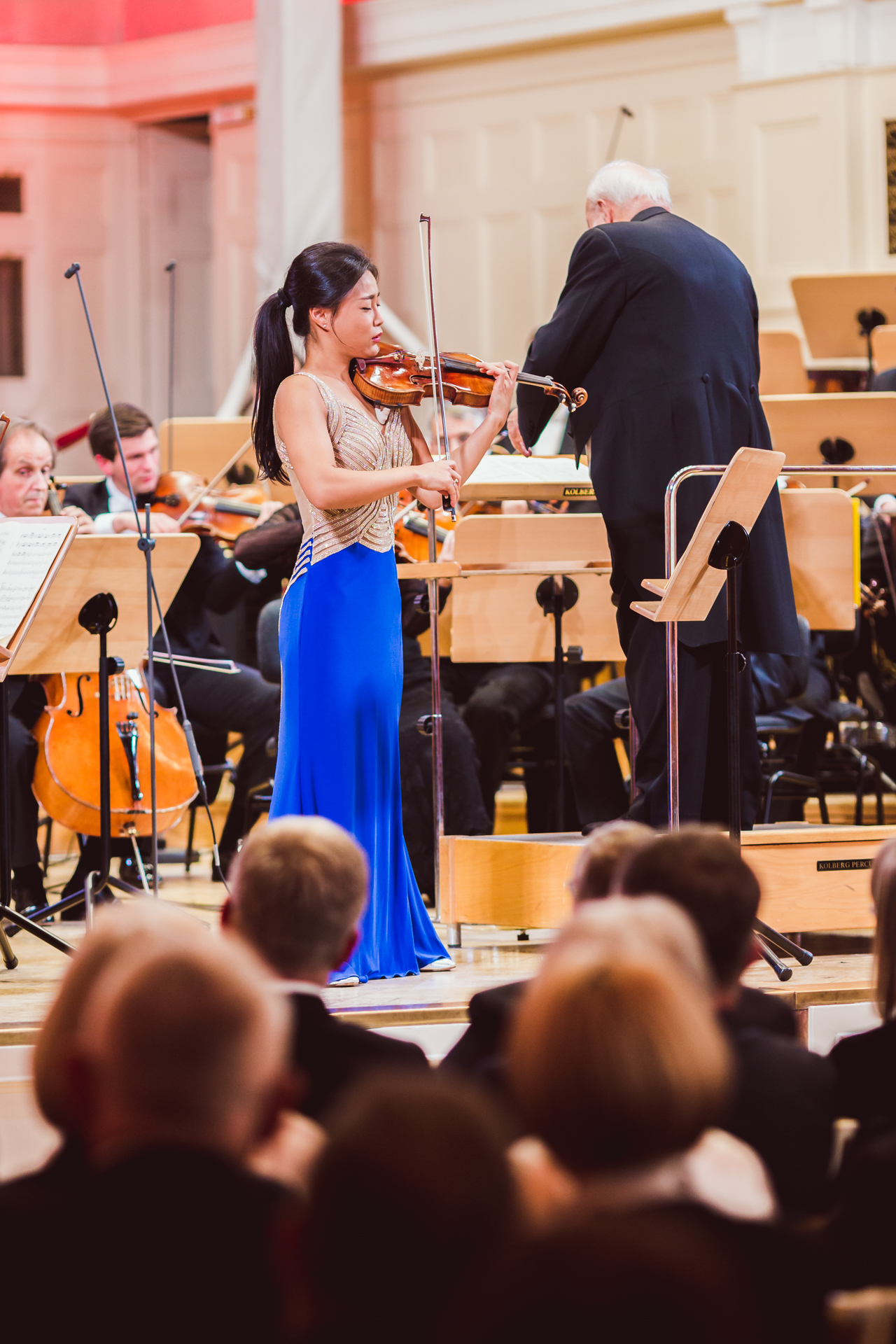 Opening Concert of the 15th International H. Wieniawski Violin Competition: Soyoung Yoon - violin, The Deutsche Kammerphilharmonie Bremen cond. by Krzysztof Penderecki (8.10.2016)