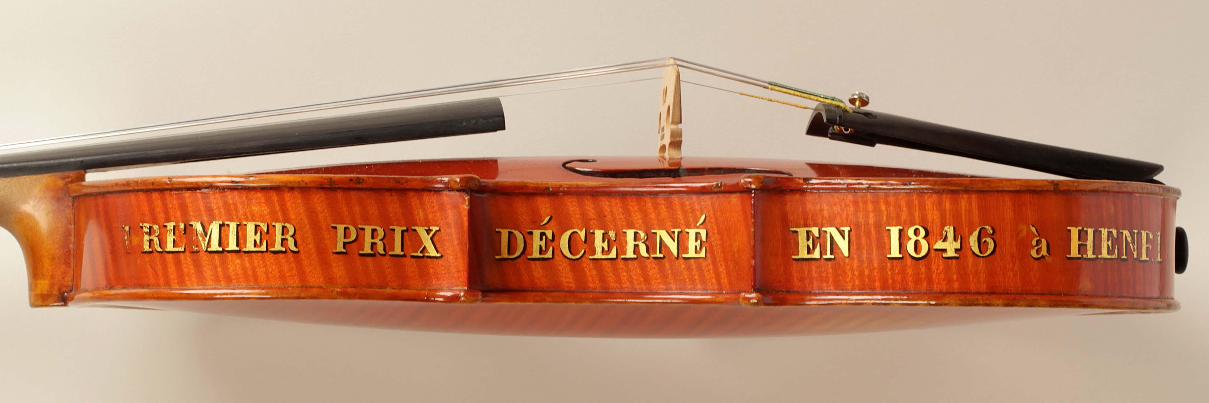 Prezentacja skrzypiec Henryka Wieniawskiego (GAND, Luthier de la Musique du Roi at du Conservatoire de Musique, 1846 r.) na Gali Laureatów Konkursu w dniu 23.10.2016