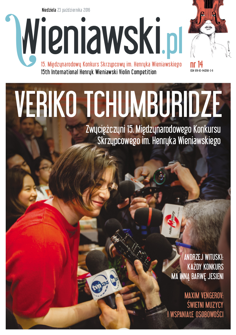 Wieniawski.pl - competition gazette available in printed and electronic versions (Polish/English)