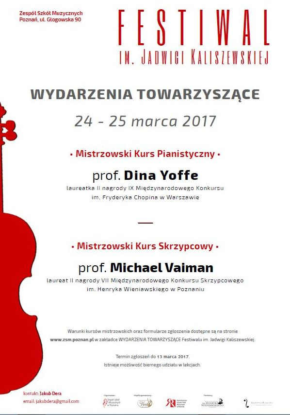 Prof. Dina Yoffe i Prof. Michael Veiman poprowadzili Kurs Mistrzowski w Poznaniu (24-25.03.2017)