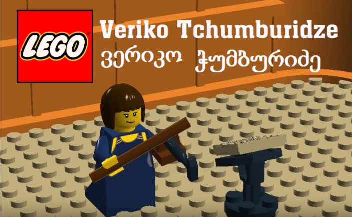 How to build the figure of talented violinist Veriko Tchumburidze from LEGO bricks? ;)