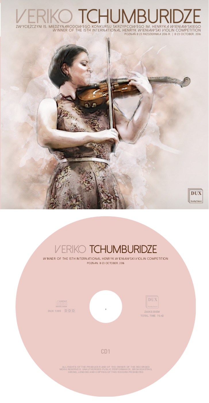 CD album of Veriko Tchumburidze - Winner of the 15th International Henryk Wieniawski Violin Competition (2016) - available!