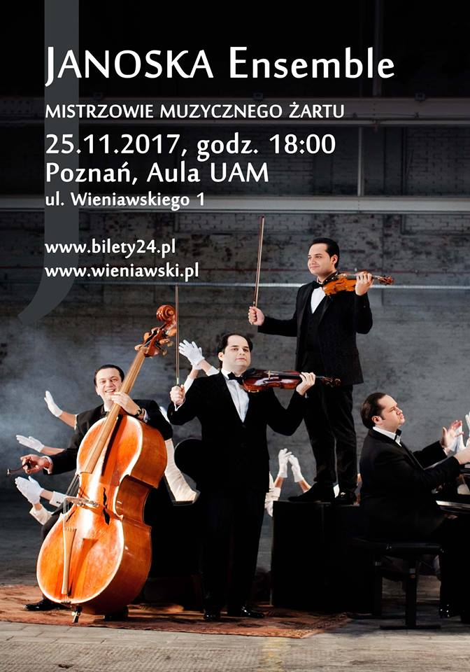 Janoska Ensemble - masters of musical jokes will give a concert in Poznań (25.11.2017, 6 PM)