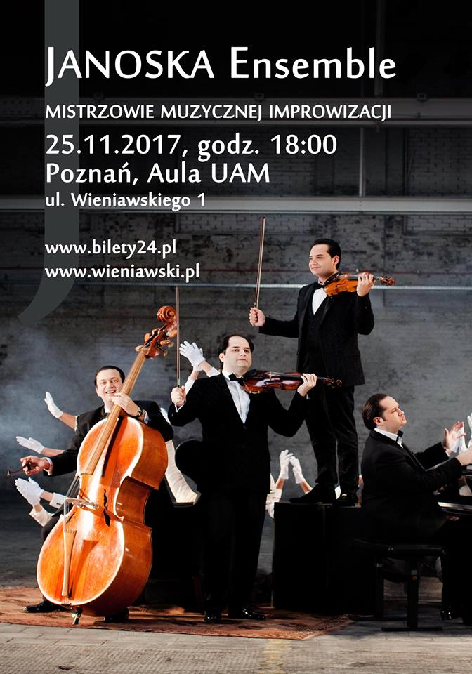 Janoska Ensemble - masters of musical improvisation will give a concert in Poznań (25.11.2017, 6 PM)